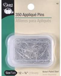 Clover Appliqué Pins 150 pcs Small Pins for Appliqué Quilting//Sewing Notions