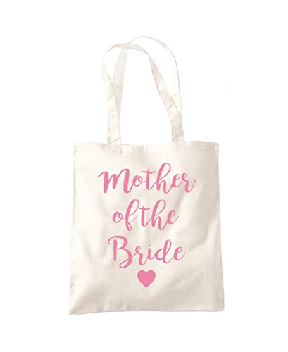 Mother of The Bride - Gift Hen do Bride to Be - Tote Shopper Fashion Bag Natural