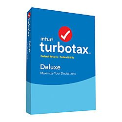 Turbotax Deluxe 2016 Federal and State, Fed Efile PC/MAC Disc