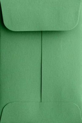 #1 Coin Envelopes (2 1/4 x 3 1/2) - Holiday Green (500 Qty.) | Perfect for Wedding, Parties, Event Favors and Place Cards | Fits Small Parts, Stamps, Jewelry, Seeds, Extracts | Inventory Envelopes | Mini Envelopes | Crafting Envelopes | 80lb Text Paper |