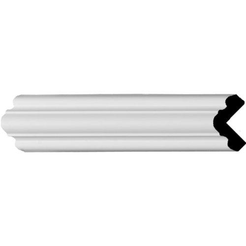 Ekena Millwork MLD01X01X02BR  1 1/2-Inch H x 1 1/2-Inch P x 2 1/8-Inch F x 94 1/2-Inch L Bradford Smooth Corner Molding