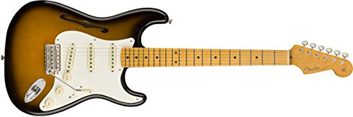 Fender Eric Johnson Stratocaster Thinline Semi-Hollow Body Electric Guitar 2-Color Sunburst