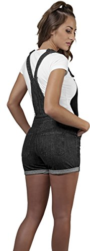 Urban Short Petos Mujer Negro Ladies Classics Dungaree Para rTcr17W