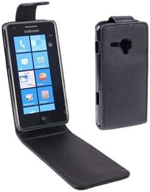 MyEstore Estuche Protector Flip Funda de Cuero for Samsung Omnia M / S7530, Negro Gran Vertical: Amazon.es: Electrónica