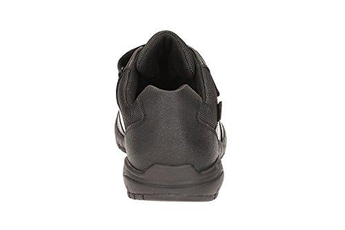 Clarks TraxFun GTX BL Boy's School Shoes in Black Black Leather