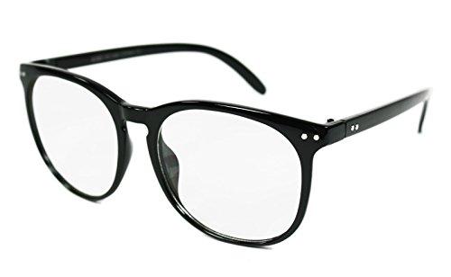 [Clark Kent Superman Style Nerd Glasses (Black)] (Super Nerd Costume)