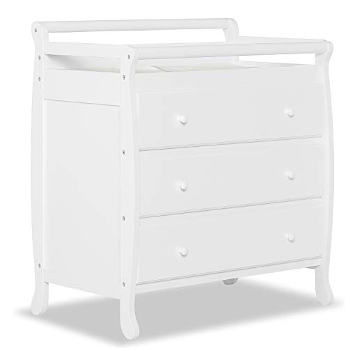 Dream On Me Liberty Collection 3 Drawer Changing Table, White