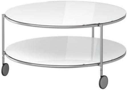 Ikea Strind Table Basse Blanc Nickele 75 Cm Amazon Fr Cuisine Maison
