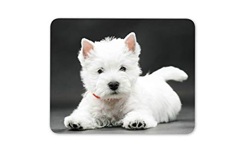 West Highland Terrier Puppy Mouse Mat Pad - Westie Dog Cute Mouse Pad Mousepad -15223