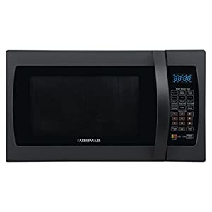 Farberware Professional FMO13AHTBKF 1.3 Cubic Foot 1100-Watt Microwave Oven with Sensor Cooking, Matte Black