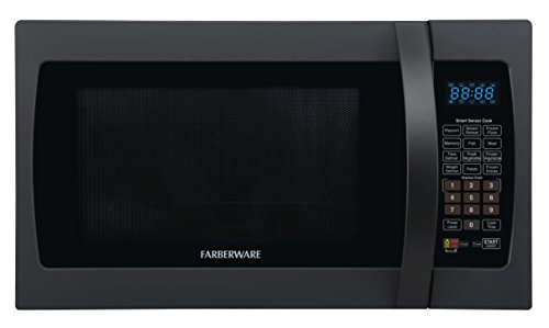 KF 1100-Watt Microwave Oven with Smart Sensor Cooking, ECO Mode and LED Lighting, 1.3 cu. ft, Matte Black ()