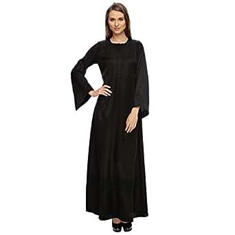 Sana'a Kayum Black Casual Abaya For Girls
