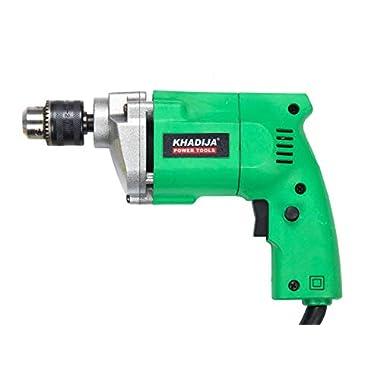 KHADIJA Powerful Simple Electric Drill Machine 10mm With Free 13Pcs HSS Drill Bits & 1Pc Masonary Bit Combo 9