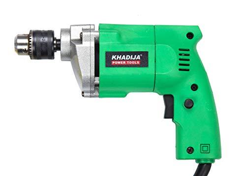 KHADIJA Powerful Simple Electric Drill Machine 10mm With Free 13Pcs HSS Drill Bits & 1Pc Masonary Bit Combo 4