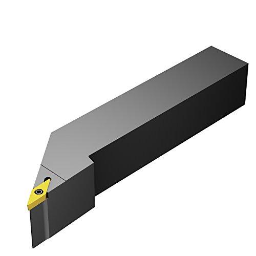 Sandvik Coromant SVJBR 2020K 16 -3 degrees lead angle Turning Insert Holder, Square Shank, Steel, External, Screw Clamp, Right Hand, 20mm Width x 20mm Height Shank, 125mm Length x 25mm Width, VBMT 332 Insert Size, 0 Degree Inclination Angle