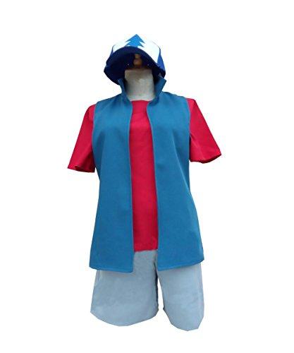Expeke Adults Blue Suit Cosplay Costume for Dipper Halloween (Men XXL, Dipper fullset) -