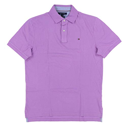 Tommy Hilfiger Mens Classic Fit Mesh Polo Shirt (Large, Lavender) ()