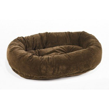 Bowsers Platinum Bed - Platinum Microvelvet Donut Pet Bed - Walnut (X Small: 22 x 16 x 6 in.)