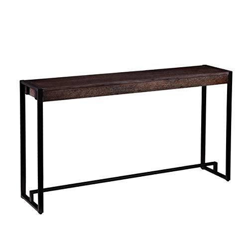Black Ash Veneer - Wood Console Table - Console Table with Ash Veneer Top - Black/Burnt Oak