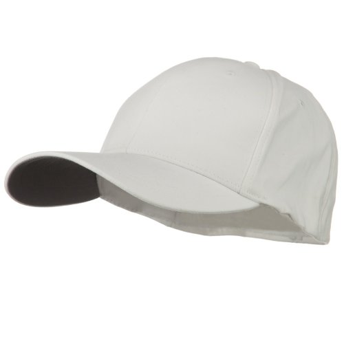 (Structured Brushed Twill Flexible Big Size Cap - White 2XL-3XL)