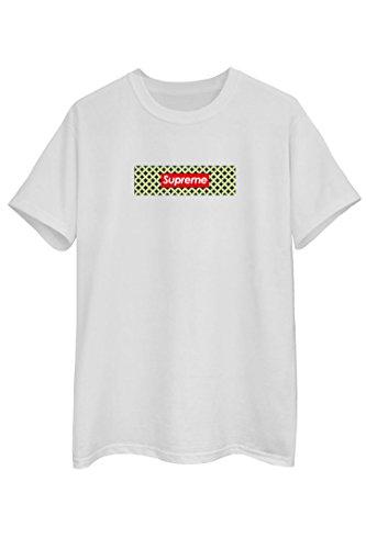SUPREME Tee T-Shirt White Sweat Tee Style Tee Unisex NEU white box in a box red
