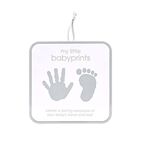 Pearhead My Little Babyprints, Handprint or Footprint Impression Kit and Keepsake Tin Perfect for Capturing Baby's Print, Gray (Imprint Baby)