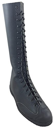 Deportes Martinez Wrestling Boots Natural Wing Tips 16in Height, Calf 16in (13) Black