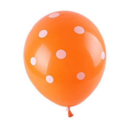 Lokman 100 Pieces 12 Inch Polka Dot Latex balloons for Party Decoration (Orange Polka Dot Balloons)