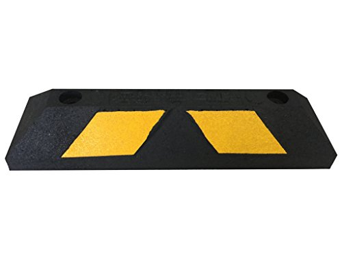 Rubber Parking Curb Wheel Stop Block for Car, RV, Trailer, Garage, Driveway or Parking Lot - 22 inches long by TLCTrafficSafety