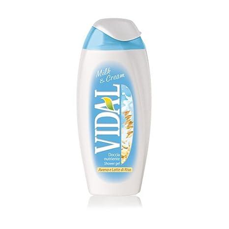 3 x Vidal Milk & Cream con Avena y Arroz Leche Gel de Ducha ...