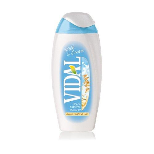 3 x Vidal Milk & Cream con Avena y Arroz Leche Gel de Ducha Ducha Crema 500 ml: Amazon.es: Belleza