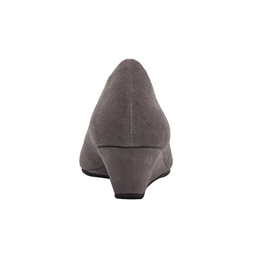 official online buy cheap pick a best PIC/PAY Talia - Women's Pumps Wrapped Wedge - Mid Height Heel Suede Leather Comfortable Slip-on Shoes Grey Suede footaction for sale sale real cheap visa payment SVREHYu1