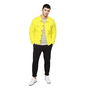 KLIZEN Yellow Plain Denim Jacket