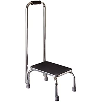 Amazon Com Duro Med Step Stool With Handle Silver And
