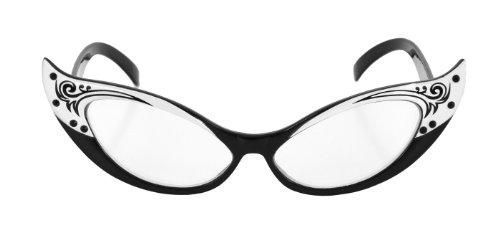 323332 (Black/White) Vintage Cat Eye - 1950s Eyeglasses Style