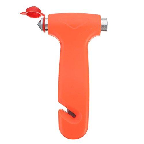 - 2 in 1 Car Emergency Safety Escape Hammer Glass Window Breaker Belt Cutter Tool