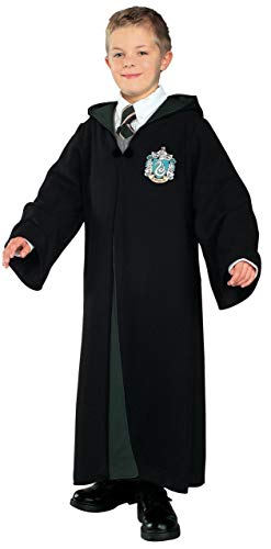 Harry Potter Deluxe Slytherin Robe Child Costume, Large]()