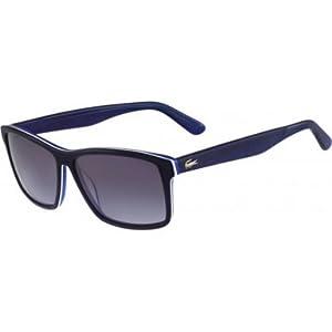Lacoste Men's L705s Rectangular Sunglasses, Dark Blue/Blue, 57 mm