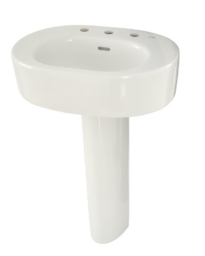 TOTO LPT790.8#01 Nexus Lavatory and Pedestal with 8-Inch Centers, Cotton White
