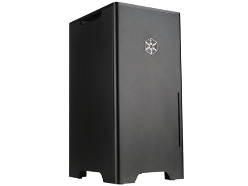 Silverstone Tek Aluminum Tower Computer Case FT03B-MINI - Black
