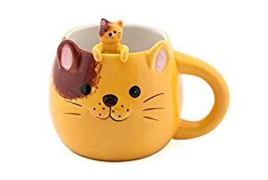 FMC Cute Animal Novelty Ceramic Coffee Tea Mug with Matching Spoon 16 fl oz Mug