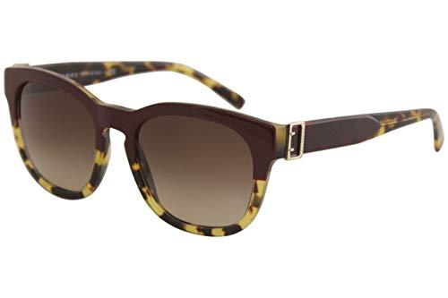 Burberry Women's BE4258 Sunglasses Top Grad Red On Tortoise/Brown Gradient 54mm Burberry Brown Tortoise Sunglasses