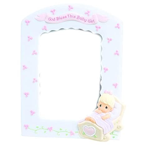 Precious Moments God Bless This Baby Girl 3.5 x 5 Resin Photo Frame ...