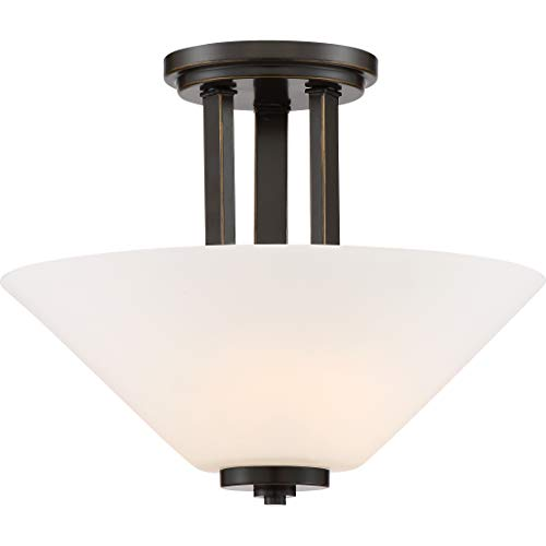 (Quiozel Caden Medium Semi Flush Mount Ceiling Fixture Palladian Bronze CDN1713PN )