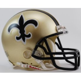 New Orleans Saints 1976 to 1999 - NFL MINI Helmet by Gridiron Football Helmets