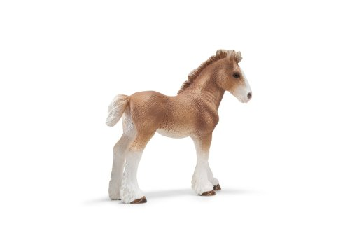 Schleich Clydesdale Foal Toy Figure (Clydesdale Foal)