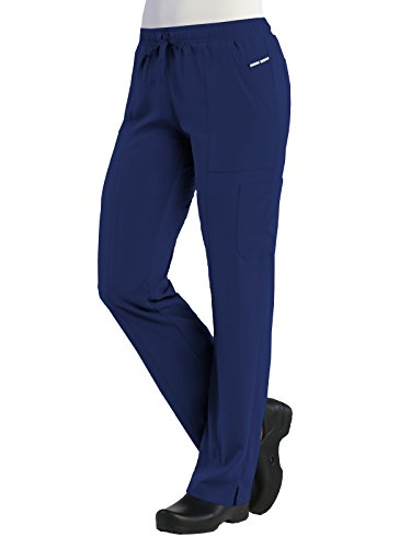 Maevn Pure Womens Relaxed-Fit Elastic Drawstring Cargo Pant (Large, Navy)