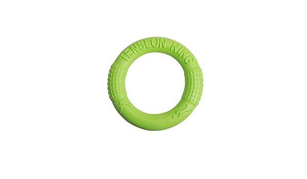 Verde S///17.5cm SUXIAO Juguete para Perro Flying Disc Anillo Interactivo para Pug No t/óxico Tirador de Goma Mordida Tug Play Producto de Entrenamiento Bulldog franc/és Labrador