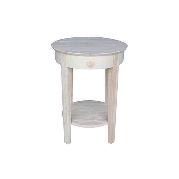 International Concepts Accent Table, Unfinished - Unfinished, finishing kit is available for purchase The weight of the product is 26 lb Experience an enhanced look along with essential function - living-room-furniture, living-room, end-tables - 31F3yEmKqXL. SS570  -