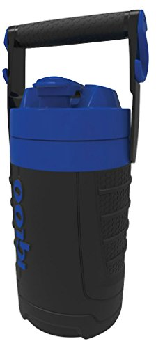 Igloo 1/2 gallon Insulated Hydration Jug, Black/Majestic Blue, 64 oz - Black Jug